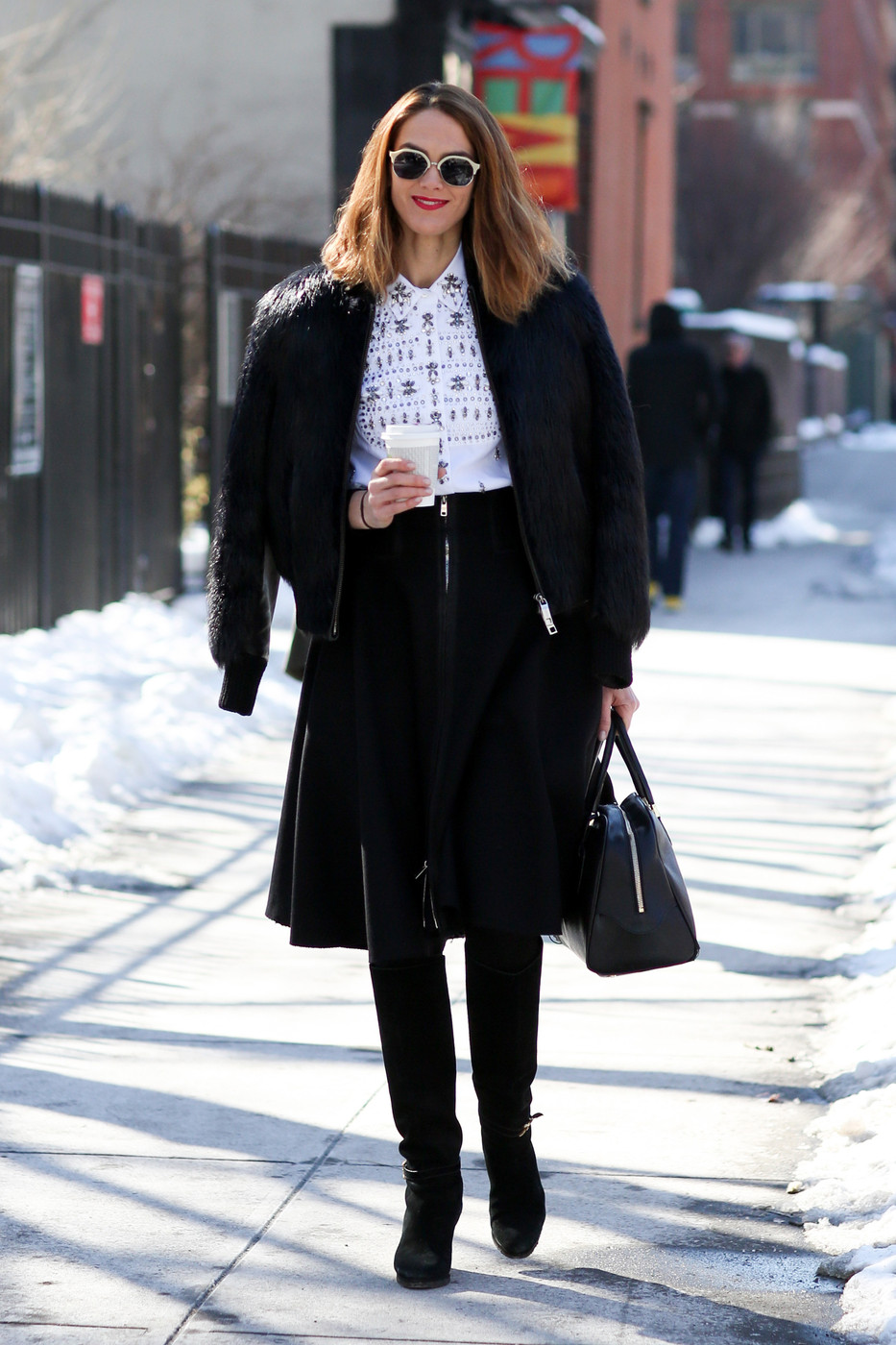 New york fashion week fall 2014 attendees pictures livingly New york fashion week street style fall 2014