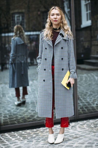 Gingham Trench