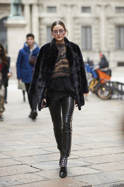 Olivia Palermo's Leather + Lace