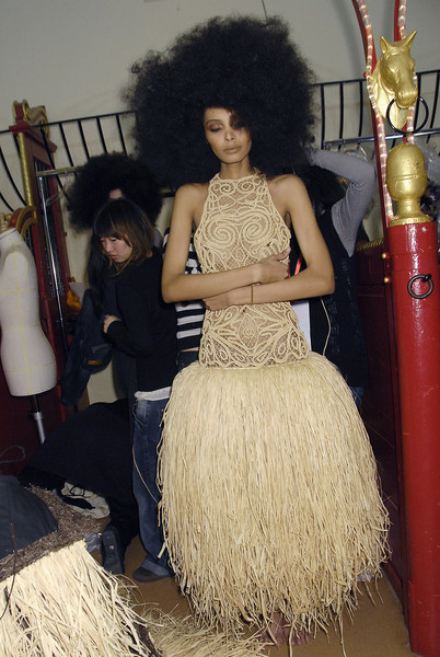 Franck Sorbier at Couture Spring 2008 (Backstage)