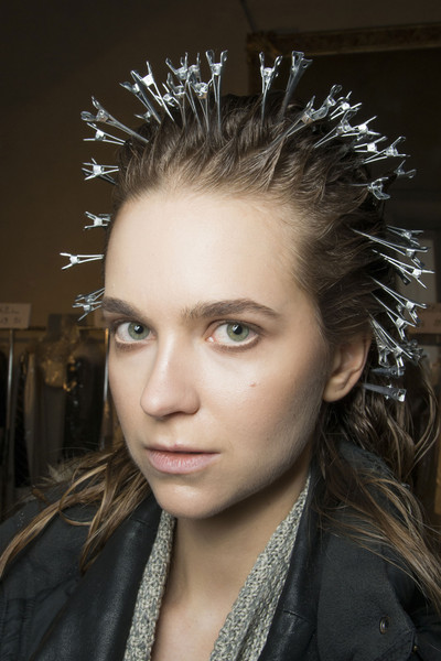 Genny at Milan Fall 2013 (Backstage)