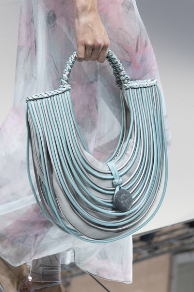 Giorgio Armani at Milan Spring 2020 (Details) [turquoise,pink,fashion accessory,necklace,jewellery,bag,fashion accessory,handbag,fashion,fashion week,spring,turquoise,pink,giorgio armani,milan fashion week,milan fashion week,handbag,armani,fashion,bag,fashion week,spring,wallet,haute couture]
