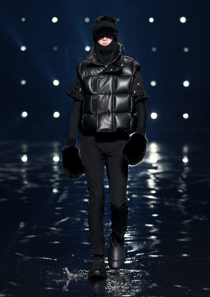 Givenchy at Paris Fall 2021 [face,water,outerwear,plant,leg,flash photography,fashion,people in nature,gesture,headgear,leather jacket,keyboard,gentleman,fashion,leather,jacket,fashion model,face,paris fashion week,fashion show,fashion show,leather jacket,jacket,fashion model,fashion,gentleman,leather,model m keyboard,midnight memories]
