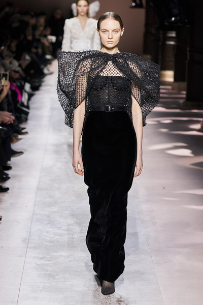 Givenchy at Couture Spring 2020 [fashion,fashion model,runway,fashion show,clothing,haute couture,event,waist,neck,shoulder,supermodel,clare waight keller,fashion,haute couture,fashion week,spring,clothing,givenchy,couture spring 2020,fashion show,givenchy,clare waight keller,fashion,haute couture,fashion week,paris fashion week,fashion show,supermodel,spring]