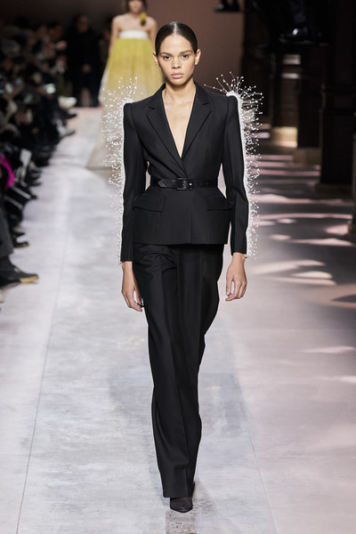Givenchy at Couture Spring 2020 [fashion model,fashion,clothing,suit,fashion show,runway,haute couture,formal wear,pantsuit,human,clare waight keller,fashion,haute couture,runway,clothing,spring,fashion model,givenchy,couture spring 2020,fashion show,clare waight keller,givenchy,haute couture,fashion,spring,fashion show,runway,clothing,clos fiorentina]