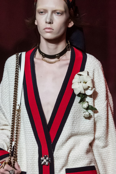 Gucci at Milan Spring 2017 (Details) [fashion,beauty,outerwear,lip,eyewear,fashion design,religious item,model,runway,fashion model,supermodel,fashion,model,runway,fashion week,haute couture,beauty,gucci,milan fashion week,fashion show,fashion show,fashion,runway,fashion week,model,supermodel,haute couture,gucci]