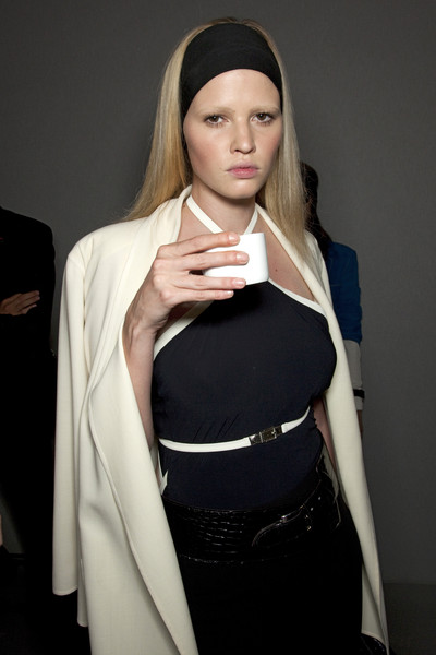 Hermès at Paris Spring 2010 (Backstage) [white,clothing,fashion,shoulder,joint,outerwear,neck,beige,headgear,fashion accessory,fashion,fashion week,spring,haute couture,runway,model,joint,hermes,paris fashion week,fashion show,paris fashion week,herm\u00e8s,fashion show,fashion,haute couture,fashion week,runway,spring,model]