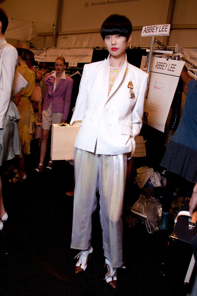 Isaac Mizrahi at New York Spring 2010 (Backstage)