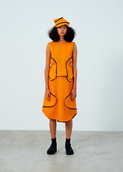 Issey Miyake at Paris Spring 2021 [fashion model,clothing,fashion,orange,fashion show,yellow,runway,one-piece garment,shoulder,fashion design,issey miyake,fashion,clothing,fashion design,ny,brand,fashion model,yellow,runway,paris fashion week,clothing,ready-to-wear,paris fashion week,fashion,manhattan ny,gucci,brand,fashion design]