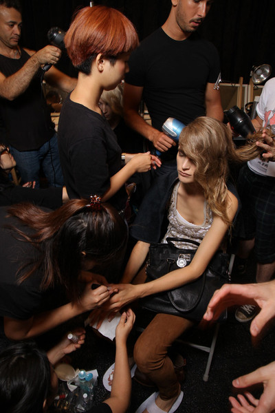 J. Mendel at New York Spring 2012 (Backstage)