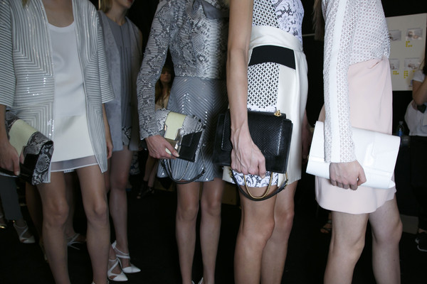 J. Mendel at New York Spring 2014 (Backstage)