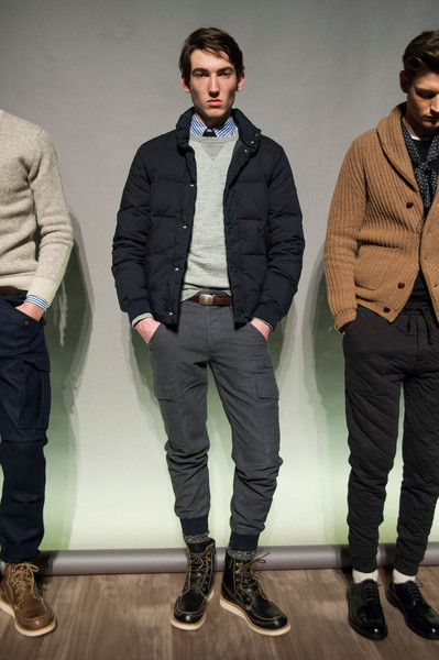 J.Crew at New York Fall 2015 [clothing,outerwear,fashion,jeans,jacket,footwear,human,blazer,cool,sportswear,blazer,jeans,media,fashion,jacket,totallyher media,new york fashion week,j.crew,llc,company,evolve media llc,totallyher media llc,blazer,overcoat,j.crew,jeans,company,media,socialite]