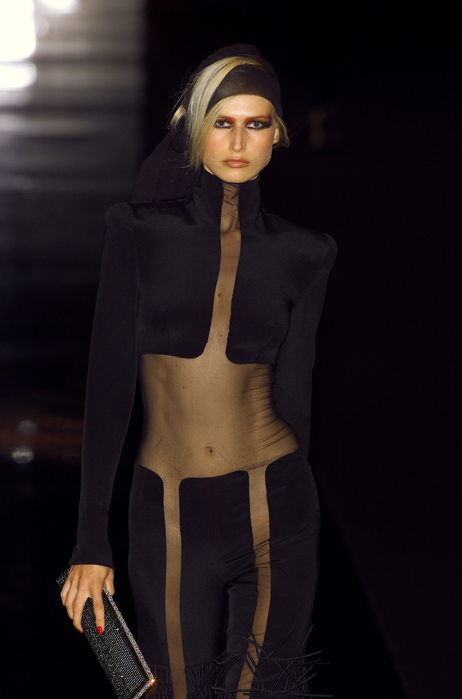 jean louis scherrer at couture fall 2001 livingly. Black Bedroom Furniture Sets. Home Design Ideas