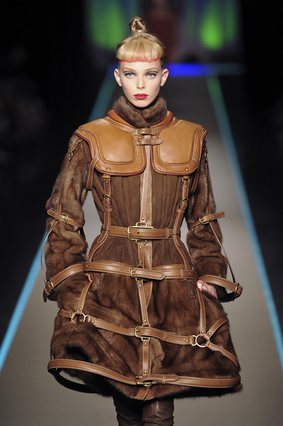 Jean Paul Gaultier at Couture Fall 2008 [fashion,runway,fashion model,fashion show,clothing,fashion design,haute couture,outerwear,human,model,jean paul gaultier,tanya dziahileva,couture fall,fashion,runway,haute couture,fashion design,model,clothing,fashion show,tanya dziahileva,runway,paris fashion week,haute couture,fashion,fashion show,chanel,fashion design,autumn,model]