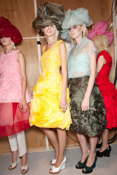 John Rocha at London Spring 2013 (Backstage)