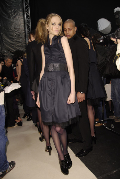 Karl Lagerfeld at Paris Fall 2008 (Backstage)