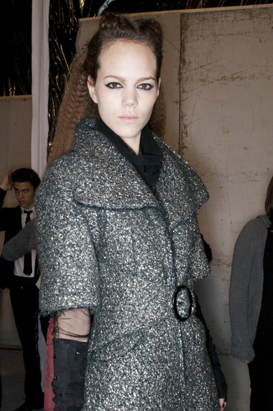 Karl Lagerfeld at Paris Fall 2009 (Backstage)