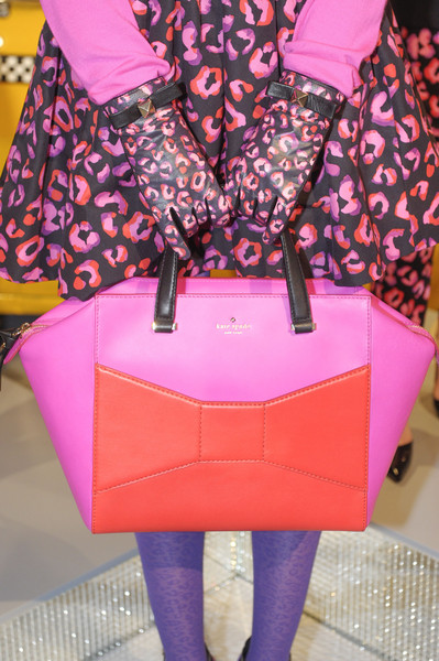 Kate Spade at New York Fall 2013 (Details) [pink,clothing,magenta,fashion,purple,high heels,handbag,bag,footwear,design,handbag,bag,design,fashion,pattern,color,embroidery,cowhide,red,new york fashion week,handbag,fashion,bag,design,pattern,color,embroidery,cowhide,red]