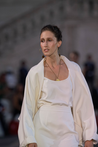 Laura Biagiotti at Milan Spring 2021 (Details) [fashion,white,fashion show,runway,beauty,fashion model,model,street fashion,fashion design,event,laura biagiotti,fashion,model,fashion week,runway,haute couture,fashion model,street fashion,milan fashion week,fashion show,laura biagiotti,fashion show,fashion,fashion week,ready-to-wear,haute couture,model,milan,runway]