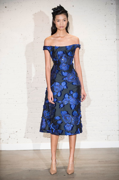 Lela Rose at New York Fall 2017 [clothing,dress,blue,cobalt blue,shoulder,fashion model,cocktail dress,day dress,fashion,electric blue,dress,cocktail dress,gown,fashion,dress,runway,haute couture,clothing,new york fashion week,fashion show,dress,fashion,cocktail dress,gown,fashion show,day dress,runway,haute couture,autumn,winter]