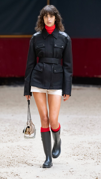 Longchamp at Paris Fall 2021 [hair,joint,hat,human body,coat,street fashion,knee,sleeve,waist,thigh,shoe,fashion,fashion week,runway,street fashion,hair,coat,longchamp,paris fashion week,fashion show,fashion show,fashion,fashion week,autumn,shoe,runway,winter 21,longchamp,winter]