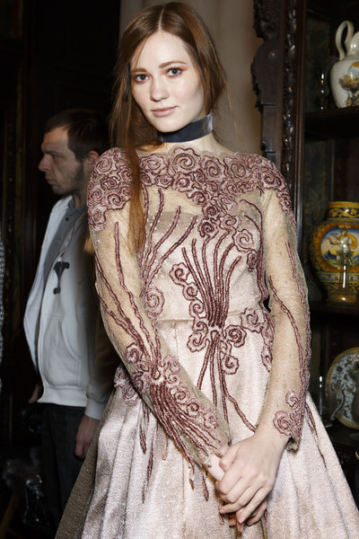 Luisa Beccaria at Milan Fall 2014 (Backstage)