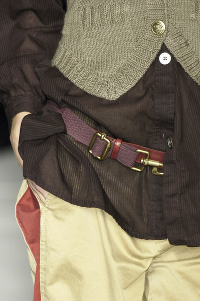 Marc by Marc Jacobs at New York Fall 2006 (Details) [belt,magenta,outerwear,buckle,fashion accessory,beige,strap,jacket,waist,bag,fashion accessory,marc by marc jacobs,maroon,belt,beige,strap,pocket m,new york fashion week,magenta,maroon,bag,pocket m]