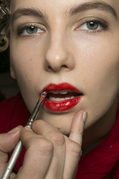 Marc by Marc Jacobs at New York Fall 2013 (Backstage) [miss universe 2011,lip,face,eyebrow,nose,close-up,cheek,beauty,mouth,chin,skin,lipstick,marc by marc jacobs,lips,lip,makeup,lip liner,beauty,mouth,new york fashion week,lips,facial makeup,miss universe 2011,lipstick,lip liner]