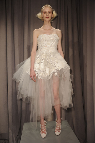 Marchesa at New York Fall 2011 [clothing,fashion model,dress,gown,fashion,haute couture,bridal party dress,shoulder,wedding dress,cocktail dress,dress,party dress,wedding dress,marchesa,clothing,lace,fabric,textile,embroidery,new york fashion week,wedding dress,lace,textile,embroidery,dress,clothing,organza,marchesa,woven fabric]