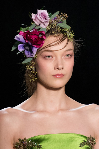 Blooming Headpiece + Wispy Bangs