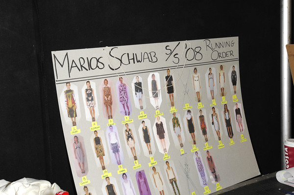 Marios Schwab at London Spring 2008 (Backstage)