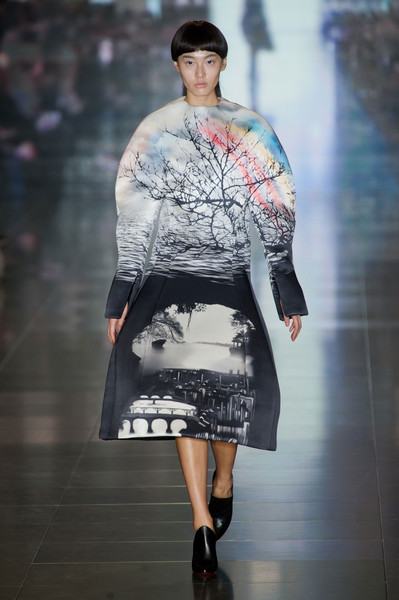 Mary Katrantzou at London Fall 2013