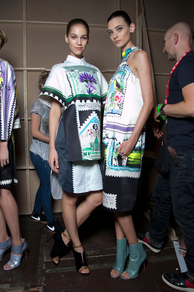 Mary Katrantzou at London Spring 2013 (Backstage)
