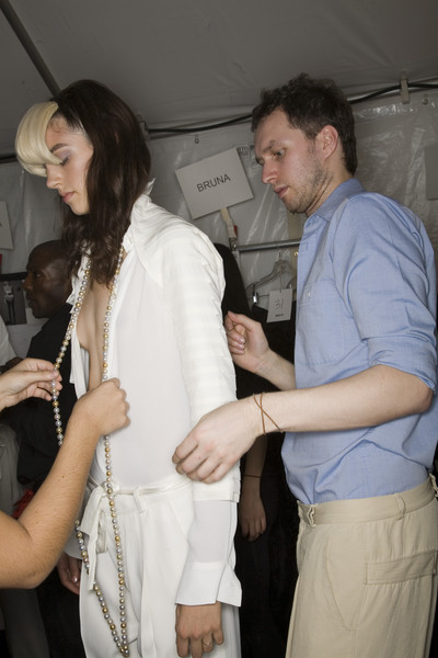 Maticevski at New York Spring 2008 (Backstage)