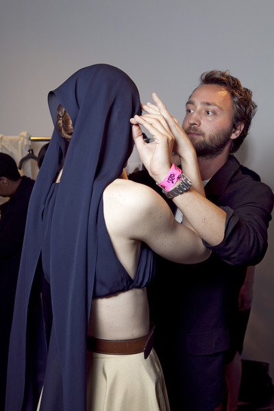 Matthew Ames at New York Spring 2011 (Backstage)