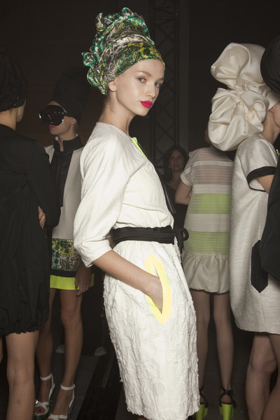 Moncler Gamme Rouge at Paris Spring 2011 (Backstage)
