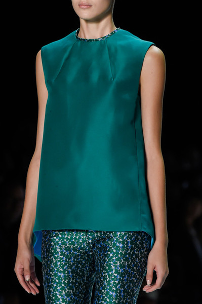 Monique Lhuillier at New York Spring 2016 (Details) [clothing,fashion model,fashion,fashion show,aqua,turquoise,electric blue,runway,neck,teal,supermodel,monique lhuillier,fashion,runway,model,fashion model,clothing,turquoise,new york fashion week,fashion show,runway,fashion show,model,fashion,supermodel,blouse]