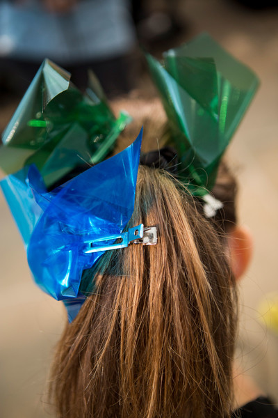 Monique Lhuillier at New York Spring 2017 (Backstage) [hair,green,blue,hairstyle,headgear,hair coloring,electric blue,fashion accessory,headpiece,ear,fashion accessory,green,monique lhuillier,hair,hairstyle,headgear,blue,ear,blue,new york fashion week,green]