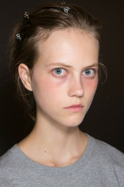 Narciso Rodriguez at New York Spring 2016 (Backstage) [face,hair,eyebrow,forehead,chin,hairstyle,lip,cheek,head,nose,narciso rodriguez,natasha poly,beauty,perfume,model,language,face,hairstyle,lip,new york fashion week,natasha poly,beauty,perfume,model,russian language]