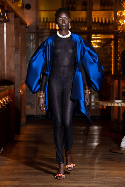Osman at London Spring 2022 [sleeve,runway,fashion design,performing arts,entertainment,formal wear,electric blue,event,waist,costume design,osman,runway,fashion,fashion week,project runway,haute couture,sleeve,london fashion week,fashion show,milan fashion week,fashion show,milan fashion week 2018,fashion,project runway,fashion week,runway,haute couture,ready-to-wear]