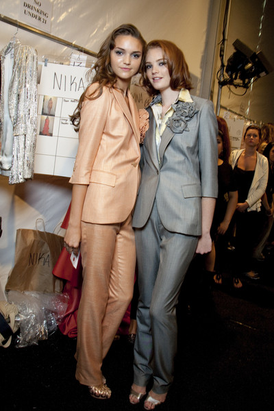 Pamella Roland at New York Spring 2010 (Backstage)