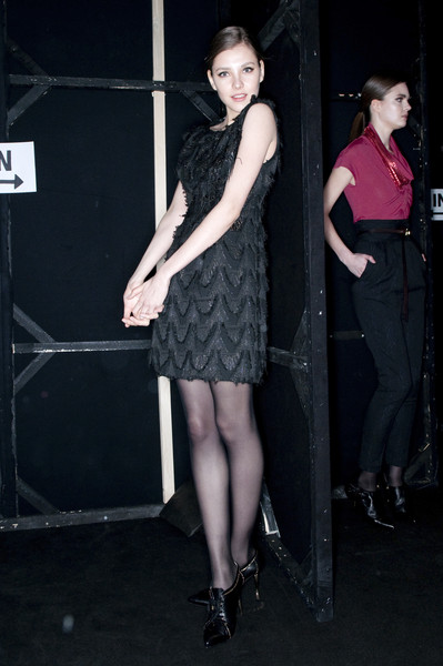 Paola Frani at Milan Fall 2009 (Backstage)