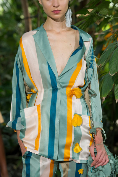 Paule Ka at Paris Spring 2017 (Details) [clothing,green,turquoise,fashion,yellow,fashion model,fashion design,outerwear,textile,scarf,outerwear,green,fashion,model,clothing,haute couture,turquoise,fashion design,paule ka,paris fashion week,haute couture,model,fashion]