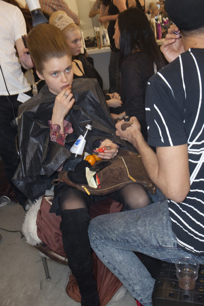 Prada at Milan Fall 2010 (Backstage)