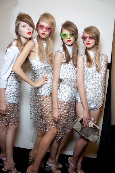 Prada at Milan Spring 2010 (Backstage)