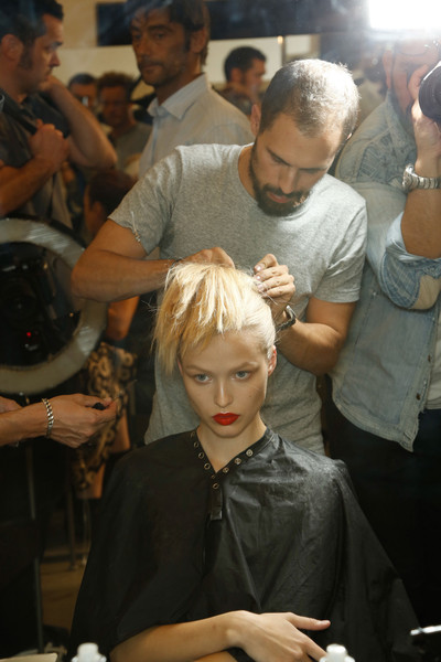 Prada at Milan Spring 2013 (Backstage)