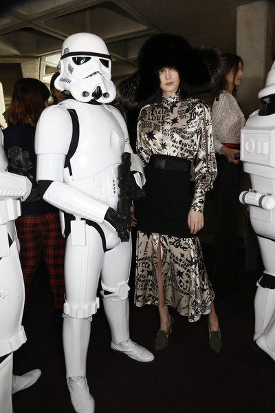 Preen at London Fall 2014 (Backstage) [costume,fashion,fun,cosplay,fictional character,black-and-white,fashion design,socialite,character,fashion,costume,fun,textile,cosplay,preen,fashion design,london fashion week,fashion,textile,socialite]