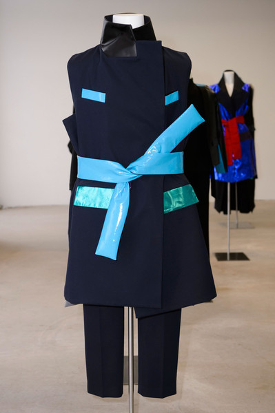 RAD by Rad Hourani at Couture Spring 2015 [couture spring 2015,clothing,blue,turquoise,outerwear,aqua,standing,azure,electric blue,coat,fashion design,outerwear,fashion design,rad,fashion,design,clothing,turquoise,blue,coat,fashion design,fashion,design]
