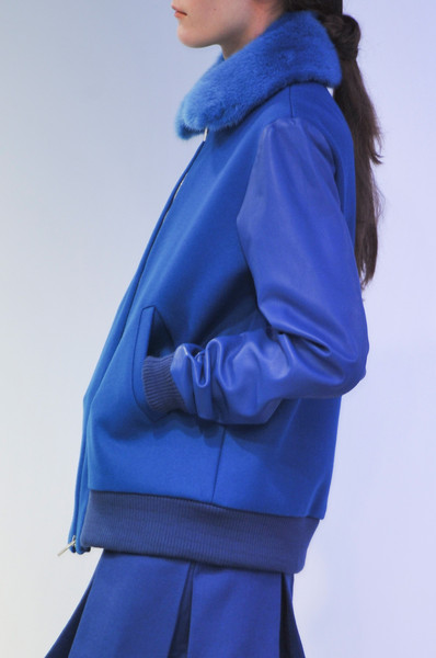 Richard Nicoll at London Fall 2014 (Details) [cobalt blue,blue,clothing,electric blue,outerwear,hood,azure,fashion,jacket,sleeve,richard nicoll,love,power,fashion,model,peace,hoodie - m,cobalt blue,england,london fashion week,england,hoodie - m,model,fashion,when the power of love overcomes the love of power the world will know peace.,hoodie,email,richard nicoll]