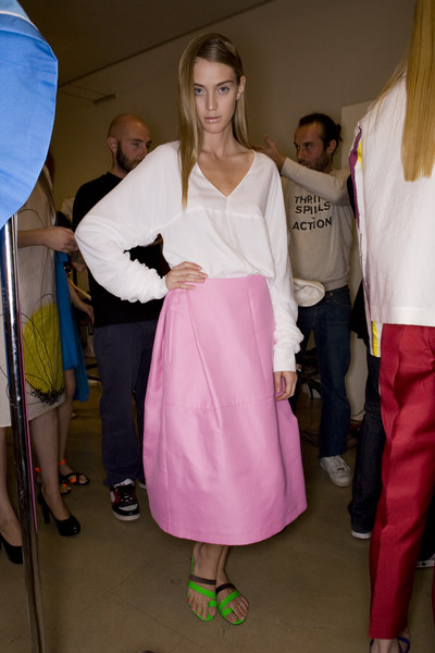 Robert Musso at Milan Spring 2009 (Backstage)